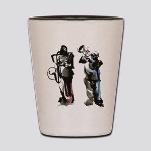 Jazz musicians Shot Glass